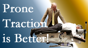 Largo spinal traction applied lying face down – prone – is best according to the latest research. Visit Hollstrom & Associates Inc.
