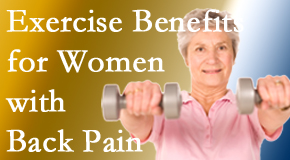 Hollstrom & Associates Inc shares new research about how beneficial exercise is, especially for older women with back pain.