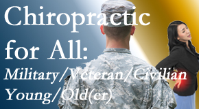 Hollstrom & Associates Inc delivers back pain relief to civilian and military/veteran sufferers and young and old sufferers alike!