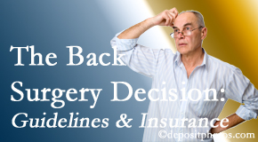 Hollstrom & Associates Inc realizes that back pain sufferers may choose their back pain treatment option based on insurance coverage. If insurance pays for back surgery, will you choose that?