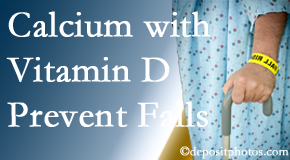 Calcium and vitamin D supplementation may be suggested to Largo chiropractic patients who are at risk of falling.
