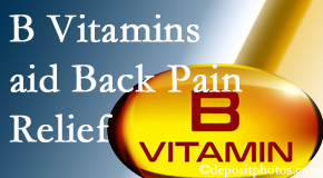 Hollstrom & Associates Inc may include B vitamins in the Largo chiropractic treatment plan of back pain sufferers.