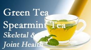Hollstrom & Associates Inc shares the benefits of green tea on skeletal health, a bonus for our Largo chiropractic patients.