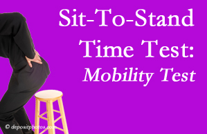 Largo chiropractic patients are encouraged to check their mobility via the sit-to-stand test…and increase mobility by doing it!