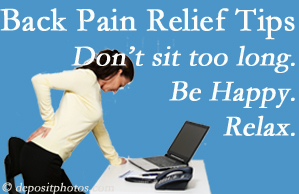 Hollstrom & Associates Inc reminds you to not sit too long to keep back pain at bay!