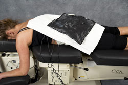 electrical stimulation combined with ice