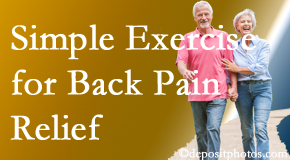 Hollstrom & Associates Inc encourages simple exercise as part of the Largo chiropractic back pain relief plan.