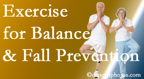 Largo chiropractic care of balance for fall prevention involves stabilizing and proprioceptive exercise.