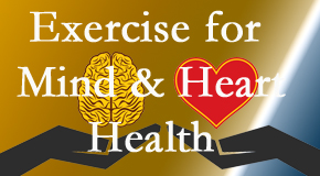 A healthy heart helps maintain a healthy mind, so Hollstrom & Associates Inc encourages exercise.