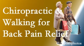Hollstrom & Associates Inc encourages walking for back pain relief in combination with chiropractic treatment to maximize distance walked.