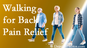 Hollstrom & Associates Inc often recommends walking for Largo back pain sufferers.