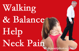 Largo exercise assists relief of neck pain attained with chiropractic care.