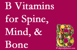 Largo bone, spine and mind benefit from B vitamin intake and exercise.