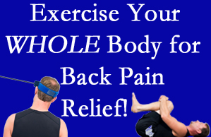 Largo chiropractic care includes exercise to help enhance back pain relief at Hollstrom & Associates Inc.