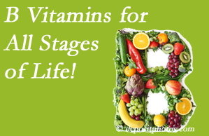 Hollstrom & Associates Inc suggests a check of your B vitamin status for overall health throughout life.