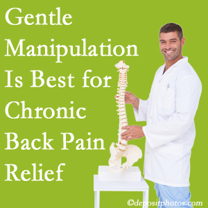 Gentle Largo chiropractic treatment of chronic low back pain is superior.