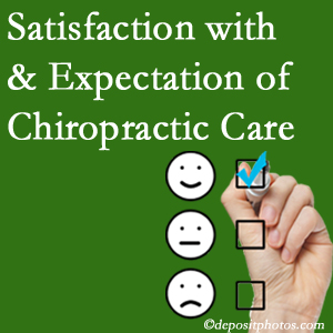 Largo chiropractic care provides patient satisfaction and meets patient expectations of pain relief.