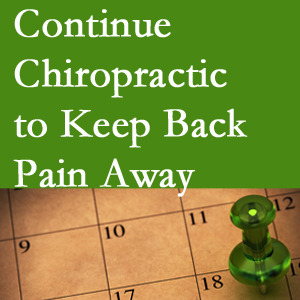 Continued Largo chiropractic care helps keep back pain away.