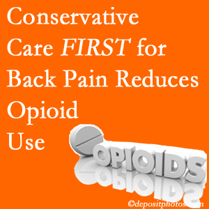 Hollstrom & Associates Inc delivers chiropractic treatment as an option to opioids for back pain relief.