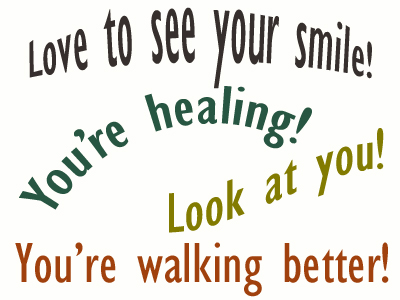 Use positive words to support your Largo loved one as he/she gets chiropractic care for relief.